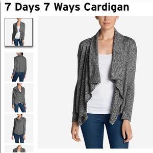 Eddie Bauer 7 Days 7 Ways Cardigan Wrap Sweater L